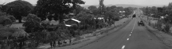 The road south from from Addis Ababa, Ethiopia, through Shashemene, the Rastafari haven.